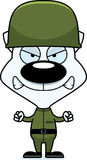 Котенок солдата шаржа сердитый Стоковое Изображение RF