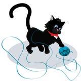 котенок шарика играя пряжу бесплатная иллюстрация