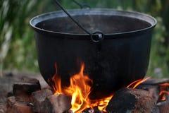 Котел на открытом огне Стоковые Фотографии RF