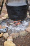 Котел на пожаре Стоковое фото RF