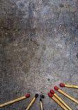 , который сгорели спички с новыми спичками Стоковая Фотография RF