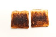 2, который сгорели куска провозглашанного тост хлеба Стоковая Фотография RF