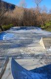 (, котор замерли) парк конька Стоковые Фото