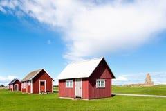 коттеджи старая красная Швеция деревянная стоковые изображения