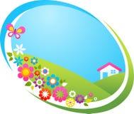 Коттедж в сельской местности бесплатная иллюстрация