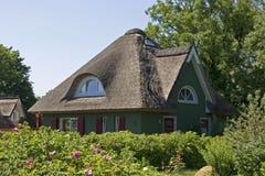 Коттедж с Thatched крышей Стоковое Изображение RF