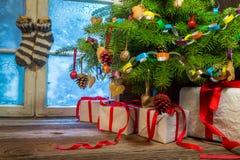 Коттедж вполне домодельных украшений рождества Стоковые Фотографии RF