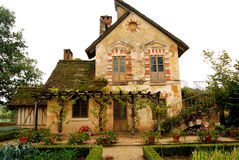 Коттедж в деревушке ферзя, Версаль, Франция Стоковая Фотография