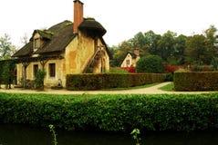 Коттедж в деревушке ферзя, Версаль, Франция Стоковое Фото