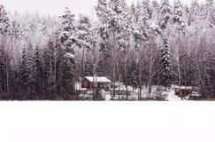 Коттедж зимы Стоковое Изображение RF