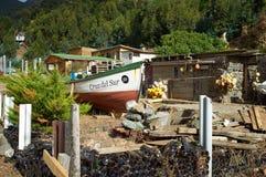 Коттедж на острове Робинсона Crusoe Стоковое фото RF