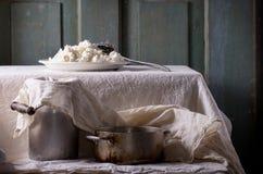 коттедж сыра домодельный Стоковые Фотографии RF