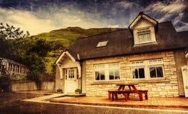 коттедж Шотландия Стоковое Фото