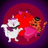Коты влюбленности поют Стоковое Изображение RF