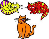 коты неухоженные Стоковые Фотографии RF