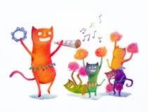 Коты партии Стоковая Фотография