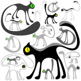 коты предпосылки Стоковые Фото