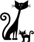 коты ретро иллюстрация вектора