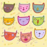 коты смешные иллюстрация штока