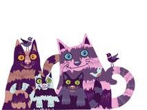 коты странные Стоковые Фотографии RF