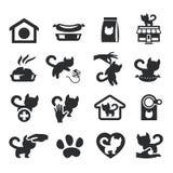 Коты установленные на серый цвет Бесплатная Иллюстрация