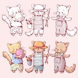 Коты шаржа Стоковое Изображение