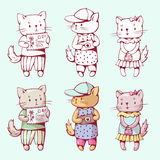 Коты шаржа Стоковое фото RF