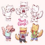 Коты шаржа Стоковые Изображения