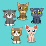 Коты шаржа иллюстрация штока