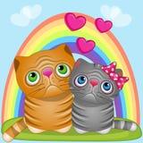 Коты любовников Стоковые Фотографии RF