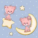 Коты любовников иллюстрация штока