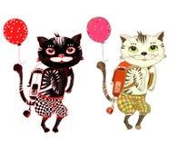 Коты иллюстрация штока