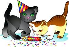 котята праздника иллюстрация штока