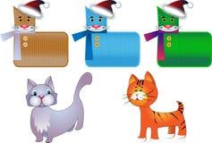 котята стилизованные бесплатная иллюстрация