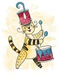 Кот-барабанщик Стоковая Фотография