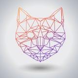 Кот битника полигональный животный Животное треугольника иллюстрация вектора