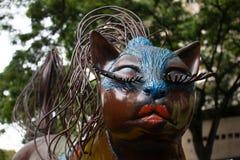 Кот Брайна составляет в парке котов в Cali, Колумбии стоковые изображения