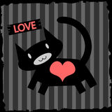 Кот в влюбленности Стоковые Фото