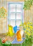 Кот в саде Стоковое Изображение RF
