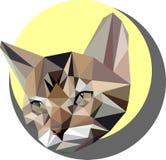 Кот в стиле полигона Иллюстрация моды tre Стоковые Изображения RF