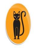 Кот в стиле хеллоуина Стоковые Фото