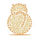 Кот в форме мозаик Стоковое Фото