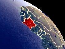 Кот-д'Ивуар от космоса иллюстрация вектора