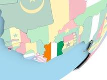 Кот-д'Ивуар с флагом бесплатная иллюстрация