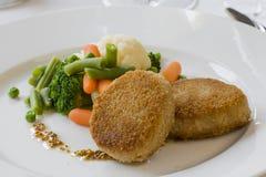 Котлета с овощами Стоковая Фотография RF