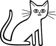 кот интересовал изолированную снятую взглядом сидя белизну студии иллюстрация вектора