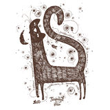 Кот и мышь Стоковые Изображения