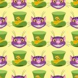 Кот и шляпа Чешира E иллюстрация вектора