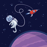 Кот космоса Стоковые Фото