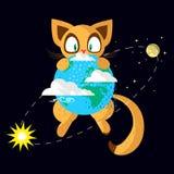 Кот космоса Стоковое фото RF
